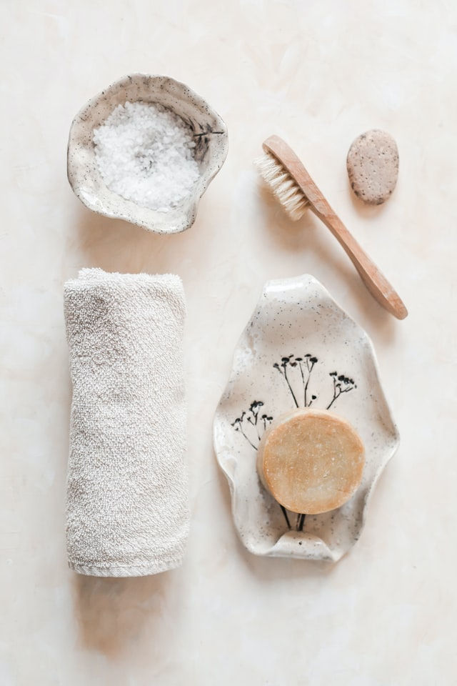 Skincare products to help get healthy skin.