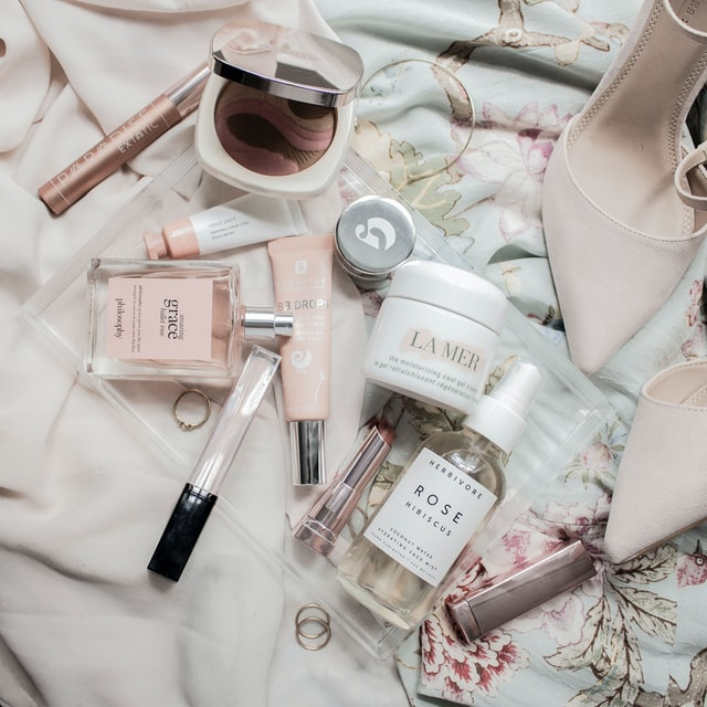 Beauty products for skincare.