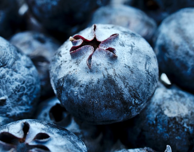 Blueberries with antioxidants.