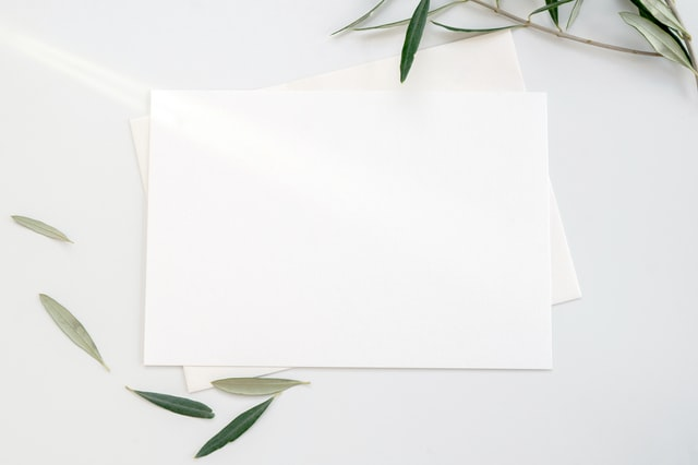 Pieces of paper on top of each other.